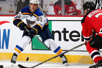 Scott Gomez St Louis Blues v New Jersey Devils