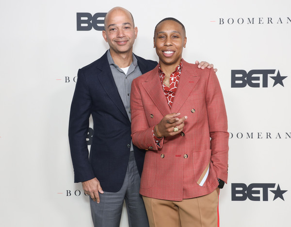 BET & Lena Waithe's Boomerang Season 2 Premiere [boomerang season 2,suit,fashion,event,outerwear,blazer,award,formal wear,premiere,carpet,jacket,lena waithe,scott mills,twenties,suit,fashion,los angeles,bet,premiere,event,twenties,los angeles,bet awards 2014,78375,professional m,celebrity,bet,tuxedo m.]