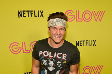Scott Porter Netflix's 'Glow' Celebrates Its 10 Emmy Nominations With Roller-Skating Event