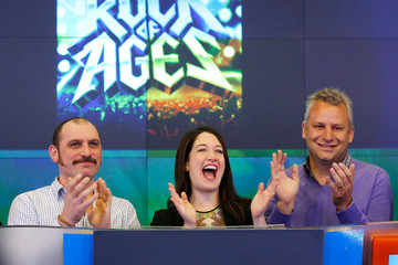 Scott Prisand 'Rock of Ages' Cast Rings the NYSE Bell