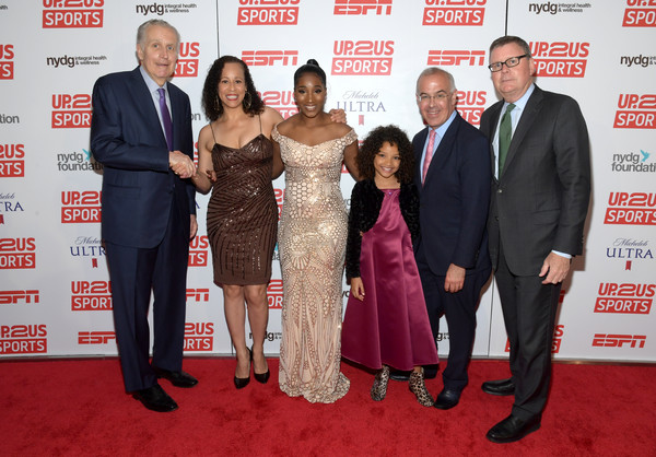 Up2Us Sports 2019 Gala Celebrates The Healing Power Of Sports [carpet,event,red carpet,premiere,flooring,suit,award,formal wear,smile,collette v. smith,scott smith,david brooks,hailee sych,tiffany corselli,paul tagliabue,l-r,up2us sports 2019 gala celebrates the healing power of sports,the healing power of sports,up2us sports 2019 gala]