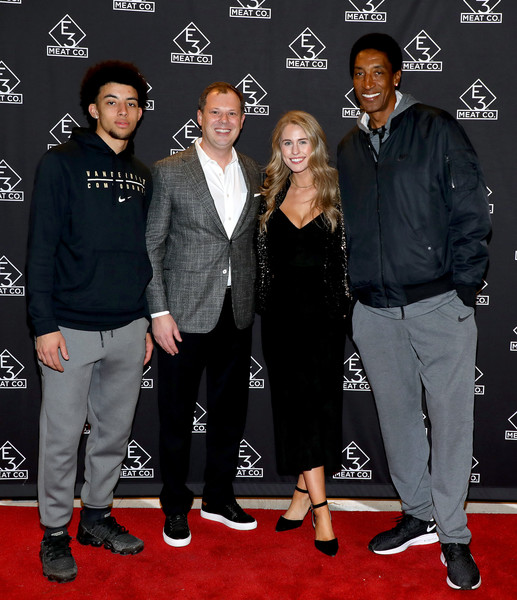 E3 Chophouse Nashville Grand Opening Party [premiere,event,red carpet,carpet,footwear,flooring,suit,scottie pippen jr.,jillian.cardarelli,brian parker,l-r,e3 chophouse nashville,tennessee,e3 chophouse nashville grand opening,party,grand opening]