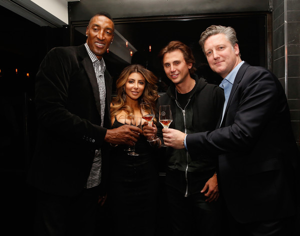 Haute Living NY And Louis XIII Cognac Collectors Dinner In Honor Of NBA All Star Weekend 2015 [event,fashion,suit,formal wear,night,white-collar worker,larsa pippen,scottie pippen,jonathan cheban,yves de launay,l-r,haute living ny,stk midtown,new york city,louis xiii cognac collectors dinner in honor of nba all star weekend,louis xiii cognac collectors dinner in honor of nba all star weekend 2015]