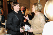 Honoree Megan Ellison (L) and SAG Foundation President JoBeth Williams attend the Screen Actors Guild Foundation 30th Anniversary Celebration after party at Wallis Annenberg Center for the Performing Arts on November 5, 2015 in Beverly Hills, California.