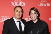 Honorees David O. Russell (L) and Megan Ellison attend the Screen Actors Guild Foundation 30th Anniversary Celebration at Wallis Annenberg Center for the Performing Arts on November 5, 2015 in Beverly Hills, California.