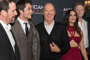 """Director Michael Cuesta, actors Dylan O'Brien, Michael Keaton, Shiva Negar and  producer Nick Wechsler arrive to the screening of CBS Films And Lionsgate's """"American Assassin"""" at TCL Chinese Theatre on September 12, 2017 in Hollywood, California."""