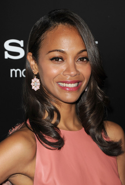 "Actress Zoe Saldana arrives at the screening of Columbia Pictures' ""Colombiana"" on August 24, 2011 in Los Angeles, California."