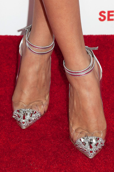 Actress Selena Gomez (shoe detail) attends the screening of Columbia Pictures and Sony Pictures Animation's 'Hotel Transylvania' at Pacific Theatre at The Grove on September 22, 2012 in Los Angeles, California.