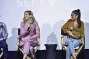 """Elizabeth Lail, and Shay Mitchell attend the Screening Of Lifetime's """"You"""" Series Premiere on September 5, 2018 in New York City."""