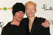"""Screenwriter Rory Kinnear (L) and actress Tilda Swinton attend the Screening of Oscilloscope Laboratories' """"We Need To Talk About Kevin"""" at the Writers Guild Theater on November 10, 2011 in Beverly Hills, California."""