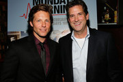Actor Jamie Bamber (L) and President, Head of Programming for TNT, TBS and Turner Classic Movies Michael Wright attend the screening of TNT's 'Monday Mornings' at BOA Steakhouse on January 24, 2013 in West Hollywood, California.