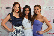 """(L-R) TV Personalities Julia Allison, Emily Morse and Amy Laurent attend the season premiere viewing party of Bravo's """"Miss Advised"""" hosted by Executive Producer Ashley Tisdale held at Planet Dailies & Mixology 101 on June 18, 2012 in Los Angeles, California."""