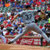 Mike Montgomery Photos - Mike Montgomery #37 of the Seattle Mariners pitches in the third inning during a game against the Texas Rangers at Globe Life Park in Arlington on August 19, 2015 in Arlington, Texas. - Seattle Mariners v Texas Rangers
