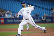 Jaime Garcia #57 of the Toronto Blue Jays delivers a pitch in the first inning during MLB game action against the Seattle Mariners at Rogers Centre on May 9, 2018 in Toronto, Canada.