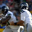 Mike Davis and Russell Wilson Photos