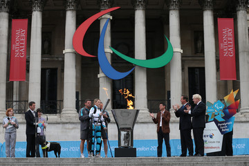 Seb Coe A Celebratory Cauldron Is Lit In Trafalgar Square Ahead Of The Paralympic Games