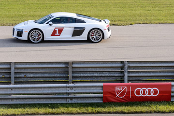 Sebastian Giovinco Audi Hits The Track With Major League Soccer All-Star Players Ahead Of MLS All-Star Game In Chicago