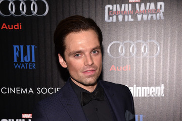 Sebastian Stan The Cinema Society With Audi and FIJI Water Host a Screening of Marvel's 'Captain America: Civil War'