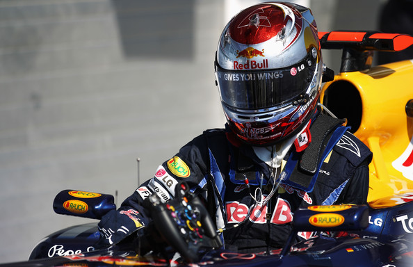 Sebastian Vettel Sebastian Vettel of Germany and Red Bull Racing is seen in parc ferme following the Hungarian Formula One Grand Prix at the Hungaroring on August 1, 2010 in Budapest, Hungary.