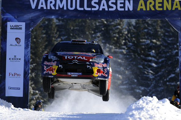 Sebastien Loeb Sebastien Loeb of France and Daniel Elena of Monaco compete in their Citroen Total World Rally Team Citroen DS3 WRC during Leg2 of the WRC Rally of Sweden  on February 12, 2011 in Karlstad, Sweden.