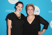 Emma Kathleen Hepburn Ferrer (L) and Caryl Stern attend Second Annual UNICEF Gala held at The Four Seasons on September 22, 2018 in San Francisco, California.
