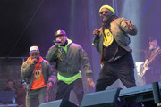 (L-R) Rappers apl.de.ap, Taboo and will.i.am of The Black Eyed Peas perform at Secret Solstice Festival powered by Icelandic Glacial on June 22, 2019 in Reykjavik, Iceland.