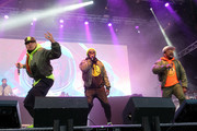 (L-R) Rappers Taboo, will.i.am and apl.de.ap of The Black Eyed Peas perform at Secret Solstice Festival powered by Icelandic Glacial on June 22, 2019 in Reykjavik, Iceland.