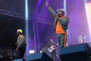 Rappers will.i.am (L) and apl.de.ap of The Black Eyed Peas perform at Secret Solstice Festival powered by Icelandic Glacial on June 22, 2019 in Reykjavik, Iceland.