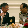 Mohamed Hussein Tantawi U.S. Secretary of Defense Leon Panetta Visits Egypt