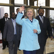 Jean Ping Secretary of State Clinton Travels To Africa