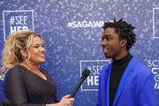 Rachel Smith and Caleb McLaughlin attend the SeeHer platform at the 26th annual Screen Actors Guild Awards. @seeHER2020 at The Shrine Auditorium on January 19, 2020 in Los Angeles, California.