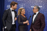 Jaymes Vaughan, Rachel Smith and Eugene Levy attend the SeeHer platform at the 26th annual Screen Actors Guild Awards. @seeHER2020 at The Shrine Auditorium on January 19, 2020 in Los Angeles, California.