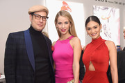 (L-R) Cameron Silver, Miss USA Olivia Jordan, and Miss Universe Pia Wurtzbach attend the Gemfields Event at Fall 2016 New York Fashion Week at Skylight Clarkson Sq on February 14, 2016 in New York City.