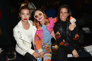 Jessica Goicoechea (L) and Miranda Makaroff (C) and guest attend Desigual show at Skylight Clarkson Sq during New York Fashion Week: The Shows on February 9, 2017 in New York City.
