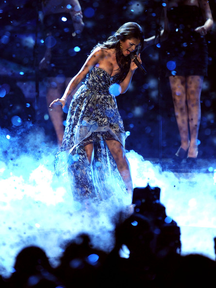 Selena Gomez Singer Selena Gomez performs onstage during the 2011 People's Choice Awards at Nokia Theatre L.A. Live on January 5, 2011 in Los Angeles, California.