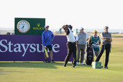 Thaworn Wiratchant of Thailand plays his first shot on the 17th tee during Day One of The Senior Open Presented by Rolex at The Old Course on July 26, 2018 in St Andrews, Scotland.