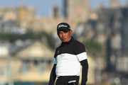 Thaworn Wiratchant of Thailand reacts to his putt on the 16th green during Day One of The Senior Open Presented by Rolex at The Old Course on July 26, 2018 in St Andrews, Scotland.