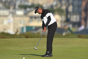 Thaworn Wiratchant of Thailand putts on the 16th green during Day One of The Senior Open Presented by Rolex at The Old Course on July 26, 2018 in St Andrews, Scotland.