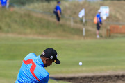 Thaworn Wiratchant of Thailand in action during the second round of the Senior Open presented by Rolex played at The Old Course on July 27, 2018 in St Andrews, Scotland.