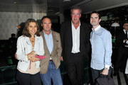 (2ndL-R) AA Gill, Jeremy Clarkson and Jimmy Carr arrive at the afterparty for the UK Premiere of Senna held at Cecconi's on June 1, 2011 in London, England.
