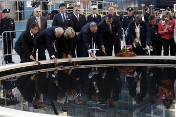 Michael Bloomberg David Paterson September 11th Memorial Held At Ground Zero On 9th Anniversary Of Attacks