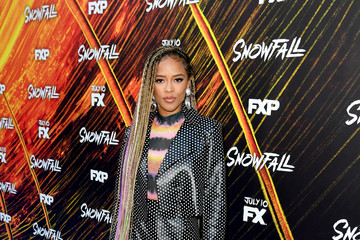 Serayah McNeill Premiere Of FX's 'Snowfall' Season 3 - Red Carpet