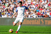 Sacha Kljestan #16 of the United States shoots the ball on a free kick against Serbia in the first half of the match at Qualcomm Stadium on January 29, 2017 in San Diego, California.