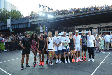 Serena Williams Maria Sharapova Nike's 'NYC Street Tennis' Event