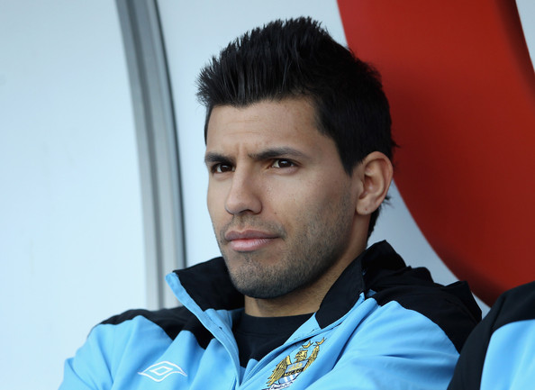 Sergio Aguero Sergio Aguero Of Manchester City Looks Thoughtful Ahead