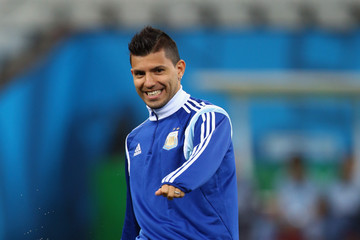 Sergio Aguero Argentina Training Session