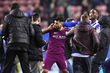 Sergio Aguero Wigan Athletic v Manchester City - The Emirates FA Cup Fifth Round