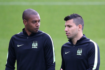 Sergio Aguero Manchester City Training Session