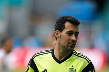 Sergio Busquets Team Spain Training Session