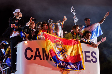Sergio Ramos Pepe Real Madrid or Atletico de Madrid victory parade after winning the UEFA Champions League Final